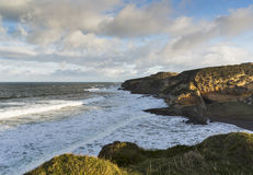 Hopeman, Cove Bay in December Stock Image
