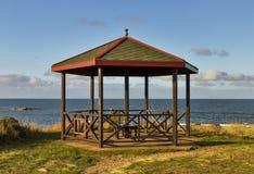 Hopeman strandskydd. Fotografering för Bildbyråer