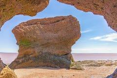 Hopewell-Felsen Stockbild