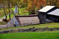 Hopewell Furnace, PA: Cast House Stock Image