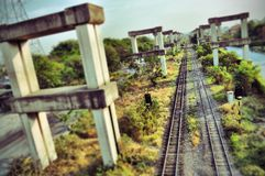 Hopewell project and rails in Bangkok.  Stock Image