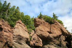 Hopewell Rocks, New Brunswick Stock Photos