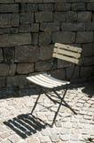 Hopfällbar stol för tappning Royaltyfri Foto