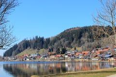 Hopfen blisko jeziornego Hopfensee w bavaria Obrazy Royalty Free