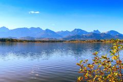 Hopfensee lake.Bavaria, Germany Stock Images