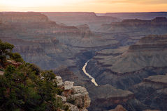 Hopi Point, Grand Canyon. Sunset at Hopi point in the Grand Canyon  national Park, Arizona USA Stock Photos