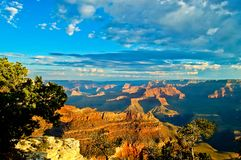 Hopi point, Grand canyon , Arizona at sunset stock photo