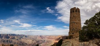 Hopi watch tower at Grand Canyon, south rim, Arizona. USA Royalty Free Stock Image