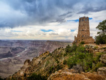 Hopi watch tower at Grand Canyon, south rim, Arizona Royalty Free Stock Photography