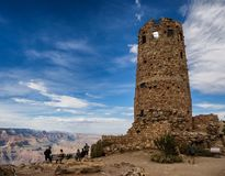 Hopi watch tower at Grand Canyon, south rim, Arizona Royalty Free Stock Images