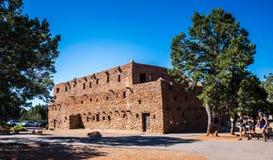 Hopihus Turist- dragningar för Grand Canyon by och Grand Canyon nationalpark, Arizona arkivbild