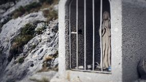 Praying and Hoping fo Luck while Climbing within the Biokovo Mountains in Makarska, Croatia royalty free stock images