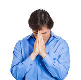 Hoping for a miracle, a prayer Stock Photography
