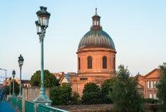 Hopital de La Grav i Toulouse, Frankrike Arkivbild