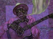 ` Hopkins Lightnin, картина маслом, художник римское Nogin, звуки ` серии джаза ` Стоковое Изображение RF