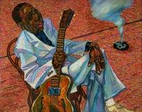 ` Hopkins Lightnin, картина маслом, художник римское Nogin, звуки ` серии джаза ` Стоковые Фотографии RF