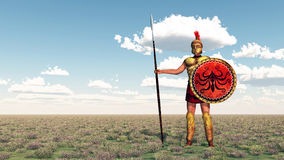 Hoplite of ancient Greece Stock Image