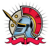 Hoplite helmet Royalty Free Stock Photography