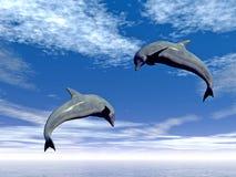 hopp dolphin2 Fotografering för Bildbyråer