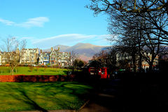 Hopp parkerar, Keswick, Cumbria Fotografering för Bildbyråer