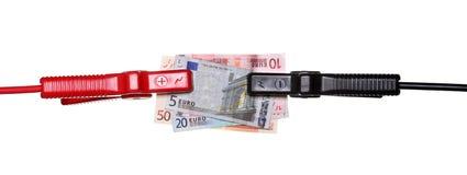 Hopp-start till euros Arkivfoto