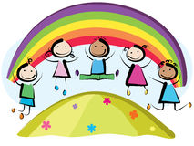 Hoppa för barn Arkivbild