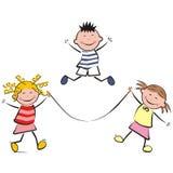hoppa för barn Royaltyfria Bilder