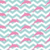 hoppa för delfiner royaltyfri illustrationer