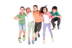 Hoppa för ungar Fotografering för Bildbyråer