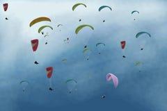 hoppa fallskärm Royaltyfri Fotografi