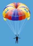hoppa fallskärm sporten royaltyfri illustrationer