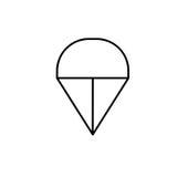 Hoppa fallskärm symbolen stock illustrationer