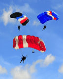 hoppa fallskärm tre Royaltyfri Fotografi