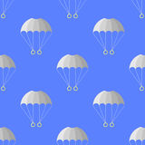 Hoppa fallskärm den sömlösa modellen extrem sport Fotografering för Bildbyråer