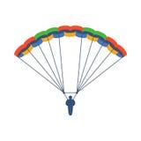 Hoppa fallskärm vektorillustrationflugan Arkivfoto