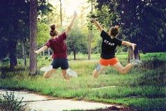 Hoppa i det mest forrest Royaltyfri Foto