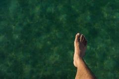 Hoppa in i havet Royaltyfri Fotografi