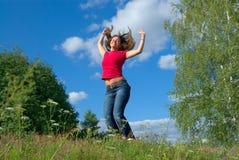 Hoppa in i skyen (serier) arkivbild