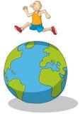 Hoppa over världen Royaltyfri Foto