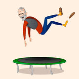 Hoppa på trampolinen Royaltyfri Foto