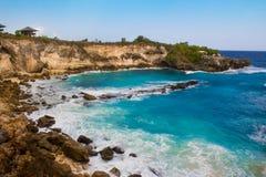 Hoppa punkt i Nusa Ceningan Royaltyfria Foton