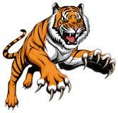 Hoppa tigern royaltyfri illustrationer