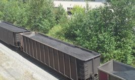 Hopper Cars Stock Image