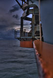 Hopper dredger. The front of a Trailing suction Hopper dredger. (HDR stock photography
