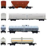 Hopper and Refrigerator Cars, Tanks Stock Photos