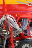 Hopper Seeder. Mechanical Seed Planter Agriculture Machinery stock photography