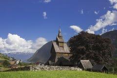 Hopperstad梯级教会 免版税图库摄影