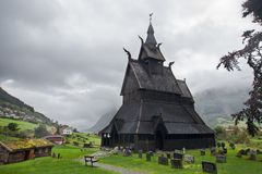 Hopperstad Stave Church immagine stock