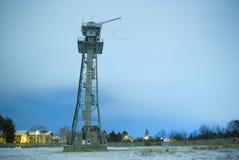 hoppet hoppa fallskärm tornutbildning arkivbilder