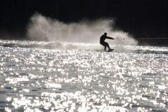 hoppet skidar vatten Royaltyfria Bilder